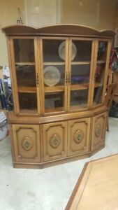 Vintage China Cabinet, Dinning Table & 6 Chairs