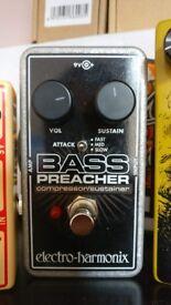 EHX Electro Harmonix Bass Preacher Compressor Sustainer Pedal