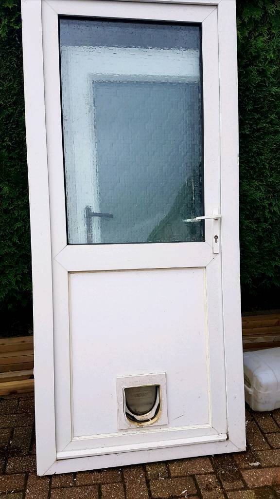 uPVC Double Glazed Back Door White with Frame | in Newbridge ...