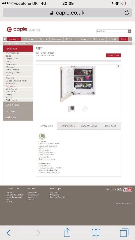 Caple intergrated freezer