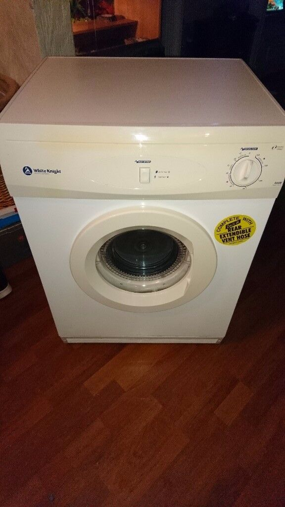 6kg White Knight Reverse Tumble dryer with vent hose