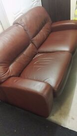 Real Leather 3 Seater Sofabed