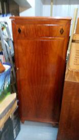 Job lot 3x solid rosewood furniture 1x oak Buero desk 1x chest freezer