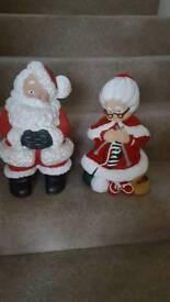 Large santa & large mrs claus