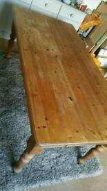 Large solid pine dinning table