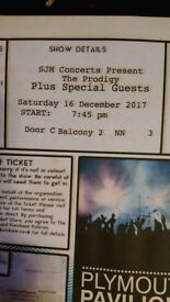 2 tickets for Prodigy at Plymouth Pavillion