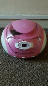 Pink cd/radio combi boombox fir sale