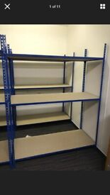 16 Heavy duty Office/Garage 3 tier Metal Shelving unit. - COLLECTION ONLY