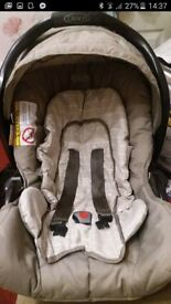 graco bear and friends car seat and base
