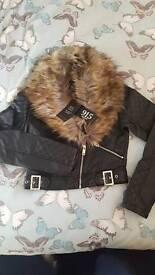 Brand new girls leather jacket