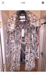 Rocha John Rocha Faux Fur Coat By Designers At Debenhams size 16