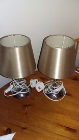 NEARLY NEW PAIR OF BEDSIDE LAMPS