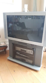 Old Style TV with DVD and VHS