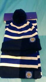 Leicester city scarf and hat