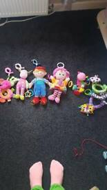Baby pram/bed toys with clip