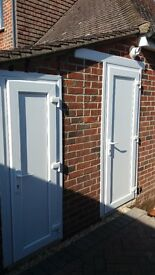 Two external PVC doors