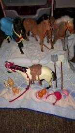 LOOK barbie horses dogs hats tools hats etc