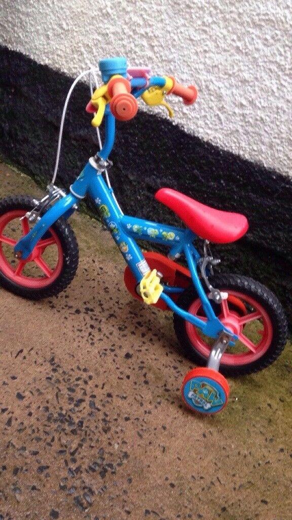 "Kids 12"" wheel , Paw patrol bicycle"
