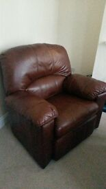 Real Leather Sofa Chair