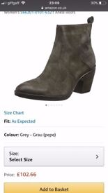 Women's MJUS suede heeled ankle boots