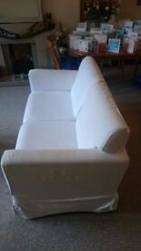 White 2 seater sofa