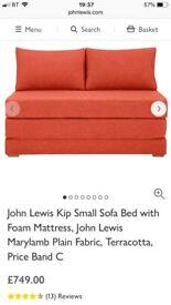 John Lewis sofabed terracotta