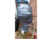 Yamaha 50 hp four stroke long ptt remote electric start outboard motor 2002 fully serviced