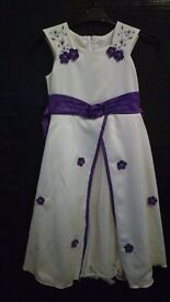 Ivory and purple size 8-9 years