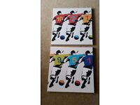 Pair of football canvasses