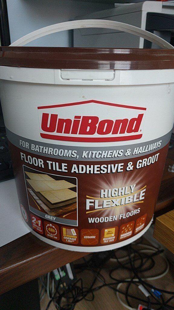 Unibond Floor Tile Grout Adhesive 72kg Grey In Earley