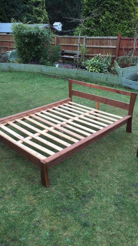 Pine standard 4ft6ins double bed frame ( can deliver )