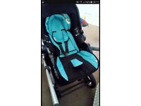 Icandy apple to pear black with kiddy carseat blue