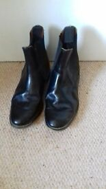 Riding boots ankle length