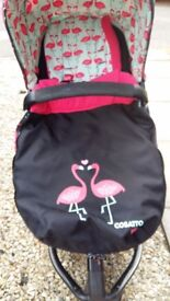 Cosatto Flamingo Pram/Pushchair/travel travel system