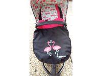 Cosatto Flamingo Pram/Pushchair/travel travel system