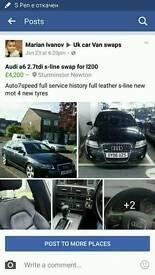 Audi a6 2.7tdi estate S-line new mot full leather sat navi