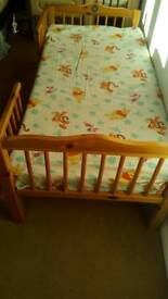 Junior bed with mattress in good condition
