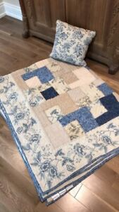 Pottery barn quilt and pillow