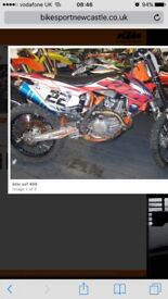 My 15 mod ktm sxf450 ready to race hgs exhaust carbon fiberd up the lot mint bike anymore info
