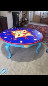 Beautiful hand painted coffee table
