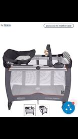 brand new Graco contour Electra and bassinet travel cot