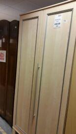 2 Door Wardrobe with recessed door panels with 25% off
