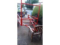 6x4 car trailer frame made out of 40x40 box good strong trailer