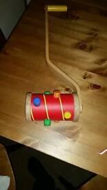 Toddler push along wooden toy