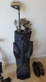 £40 for golf clubs, trolley and golf shoes.