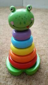Wooden Frog Stacking Toy