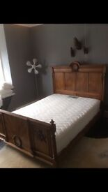 Vintage antique double bed.