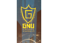 GNU Carbon High Beam Snowboard 161 Wide (with bag)
