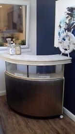 Mid Century Retro 1960's Home Bar with Two Stools