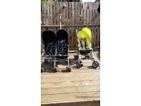 Double obaby buggy and single chicco buggy